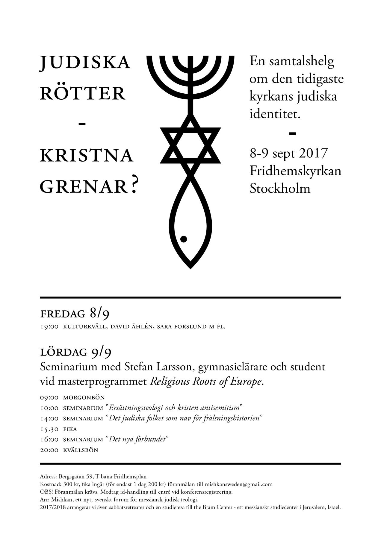 Judiska rötter Kristna grenar - A4 poster version 1